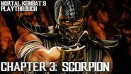 Mortal Kombat 9 (PS3) - Story Mode - Chapter 3 Scorpion Gameplay Playthrough