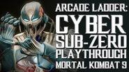 Mortal Kombat 9 (PS3) - Arcade Ladder Cyber Sub-Zero Playthrough Gameplay