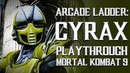 Mortal Kombat 9 (PS3) - Arcade Ladder Cyrax Playthrough Gameplay