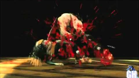 "▶ Mortal Kombat 9 Quan Chi First Fatality ""Beat Down"" HD"