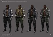 Mortal kombat x jax concept art color variants