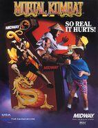 Mortal Kombat Flyer Front