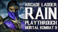 Mortal Kombat 9 (PS3) - Arcade Ladder Rain Playthrough Gameplay