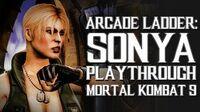Mortal Kombat 9 (PS3) - Arcade Ladder Sonya Playthrough Gameplay