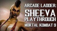 Mortal Kombat 9 (PS3) - Arcade Ladder Sheeva Playthrough Gameplay