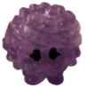 Boomer figure glitter purple