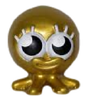 Bubbly figure gold