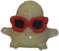 DJ Quack figure ghost white