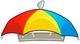 Rain Brain Umbrella Hat