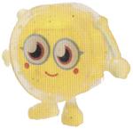 Wallop figure glitter yellow