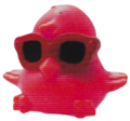 DJ Quack figure shocking pink