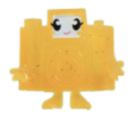 Holga figure glitter orange promo