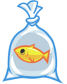 Moshling Theme Park Fish in a Bag