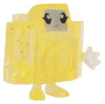 Holga figure glitter yellow