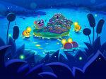 Leanneslight illustration Gideon the Amphibian's Froggy Choir