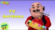 TV Antenna - Motu Patlu in Hindi - ENGLISH, SPANISH & FRENCH SUBTITLES! - 3D Cartoon for Kids