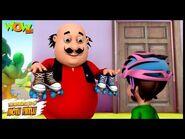 Motu Patlu Cartoons In Hindi - Animated cartoon - Motu the Roller skate coach - Wow Kidz