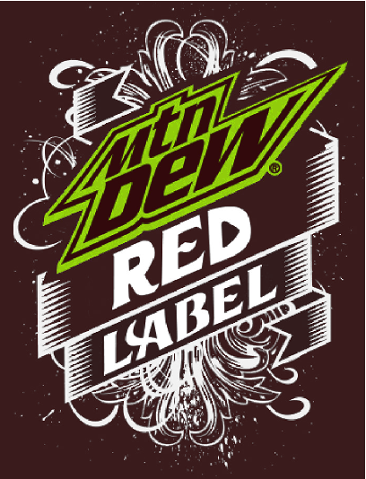 Fan Made Mountain Dew Red Label logo.png