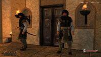 Aserai infantry guarding a door