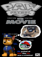 Chase misses his brother Marshall PAW Patrol The Movie poster remake