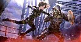 Black Widow vs Taskmaster Concept Art