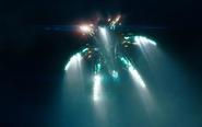 Super 8 - The Alien's Ship Flying Off