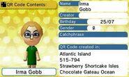 Irma Gobb QR Code Contents