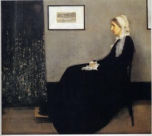 James Abbot McNeil Whistler- Arrangement in Grey and Black No. I- (Whistler's Mother)