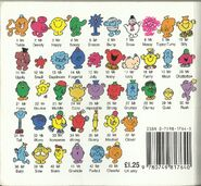 Mr Men Mid to Late 1990's back cover