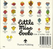 Little Miss books back cover 1980's