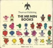 Mr Men Mid 1970's Back Cover