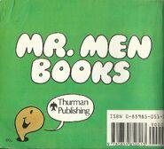 Mr Men Back Cover Mid 1980's