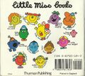 Little Miss books back cover mid 1980's revision A