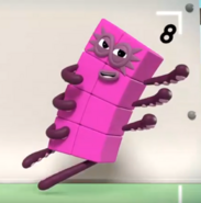 Numberblock 8's action pose
