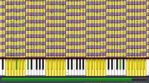 """Black MIDI Synthesia - """"What does the Fox Say?"""" 1"""