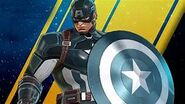Captain America with Blue shield