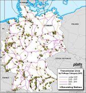 German transmission lines