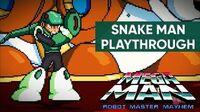 Mega Man Robot Master Mayhem (PC) - Snake Man Gameplay