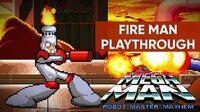 Mega Man Robot Master Mayhem (PC) - Fire Man Gameplay