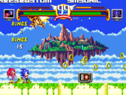 Sonic and Knuckles vs Mecha Sonic