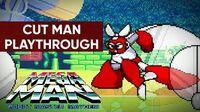 Mega Man Robot Master Mayhem (PC) - Cut Man Gameplay