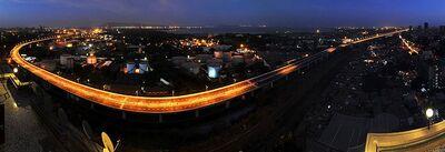 The Eastern Freeway, Mumbai at night.jpg