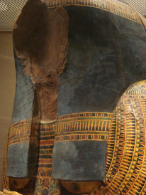 Nauny's coffin robbed of its golden face.
