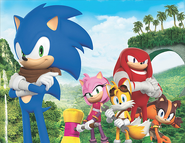 Sonic Boom promotional with Sticks
