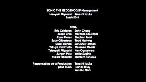 Sonic Boom - French Credits