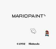 Mario Paint titulo Jugar