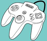 Manual de Mano Controlador N64