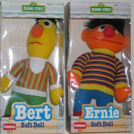 Bert and Ernie soft dolls (Playskool)
