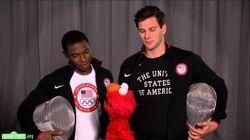 Sesame Street Elmo and Team USA Fencers Tim Morehouse and Daryl Homer Discuss Teamwork