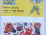 Muppet Show rub-down transfers (Letraset)